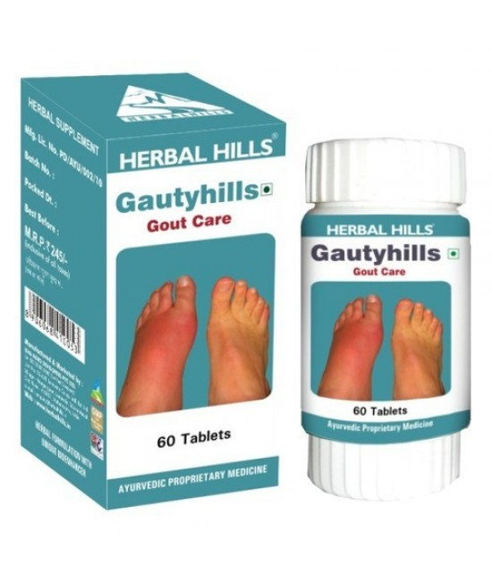 Gautyhills - Herbal Gout Care Supplement - 60 Tablets